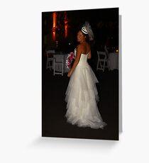 Zoe A Beautiful Bride Greeting Card