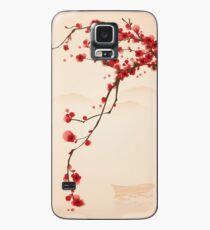 Wunderlicher roter Kirschblüten-Baum Hülle & Klebefolie für Samsung Galaxy