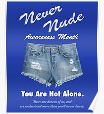 Never Nude Awareness Month Poster