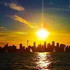 Sunset over the City. Panorama by Alexey Dubrovin