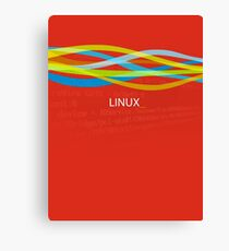 Linux Rainbow Canvas Print