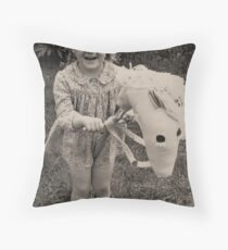 HOBBY HORSE Throw Pillow