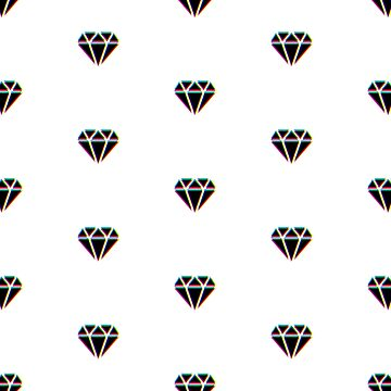 CMYK Diamond pattern by animinimal