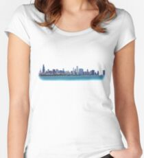 Chicago Skyline Photo Women's Fitted Scoop T-Shirt