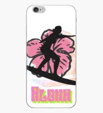 Aloha surfer girl art iPhone Case