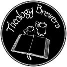 Theology Brewer Logo Circle - White by Faith Brewer