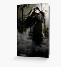 Sky Mist Woman Greeting Card