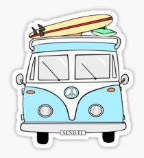 """Pegatina Azul """"Envíalo"""" Hippie Van"""