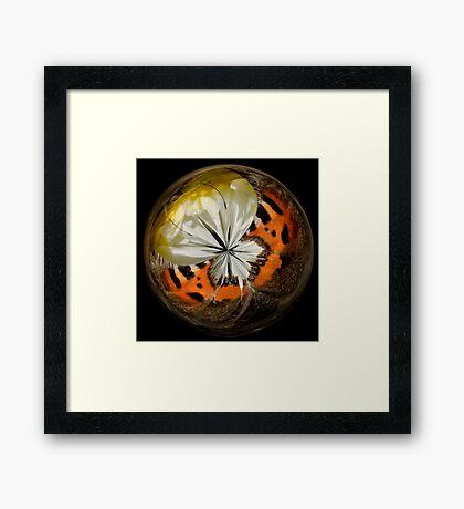 BUTTERFLIES & DAHLIAS Framed Print