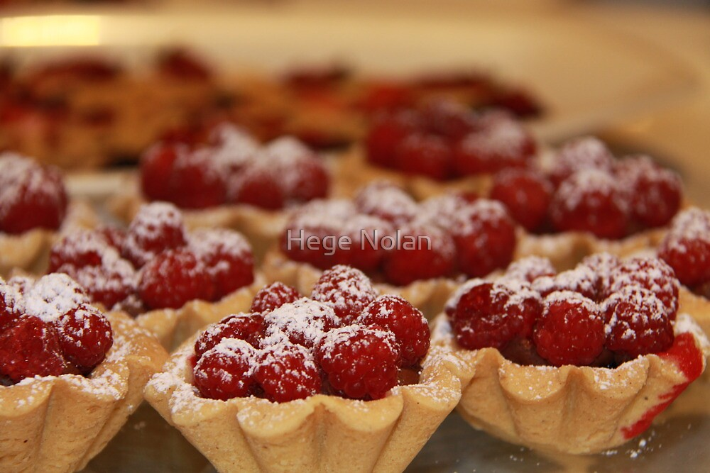 Home made raspberry tarts by Hege Nolan