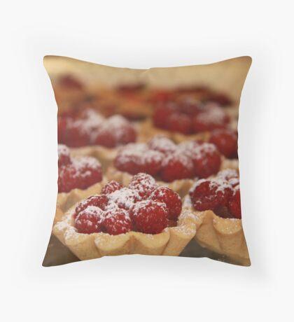 Home made raspberry tarts Throw Pillow