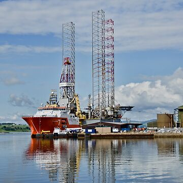 In the Harbour at Invergordon, Scotland by gerdagrice