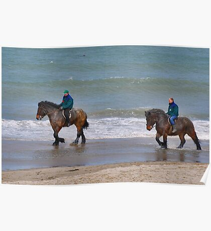 Straô horses in the North Sea Poster