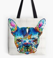 Colorful French Bulldog Dog Art By Sharon Cummings Tote Bag