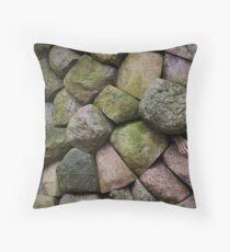 Stone age Throw Pillow