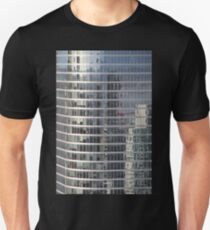 Reflections. Skyscraper Detail from Harbour Tower, Vancouver City, Canada.  Unisex T-Shirt