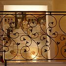 delicate balustrade on stairs, our hotel, Rome by BronReid