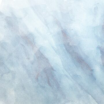 Ice Blue Abstract Winter Watercolor Painting by TeeVision