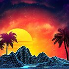 Vaporwave sunset by AnnArtshock
