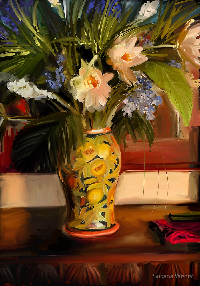 Tropical flowers by Susana Weber