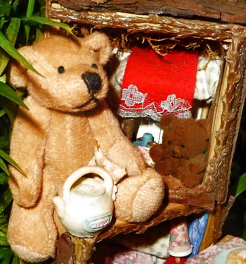 Teddies in a Tree House by Nadya Johnson
