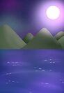 Ocean Night Sky by C. Jade Wyton