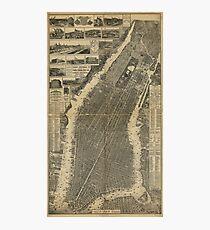 Lámina fotográfica The City of New York Map (1879)