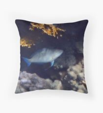 The Red Sea Longnose Parrotfish Throw Pillow