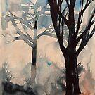 Bäume im Nebel von Marianna Tankelevich
