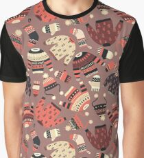 Warm knitted Winter wear seamless pattern Graphic T-Shirt