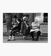 Cannes Film Festival, Bench Photographic Print