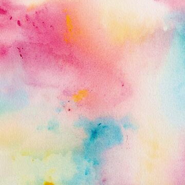 Pastel Rainbow Watercolor Abstract Painting by TeeVision