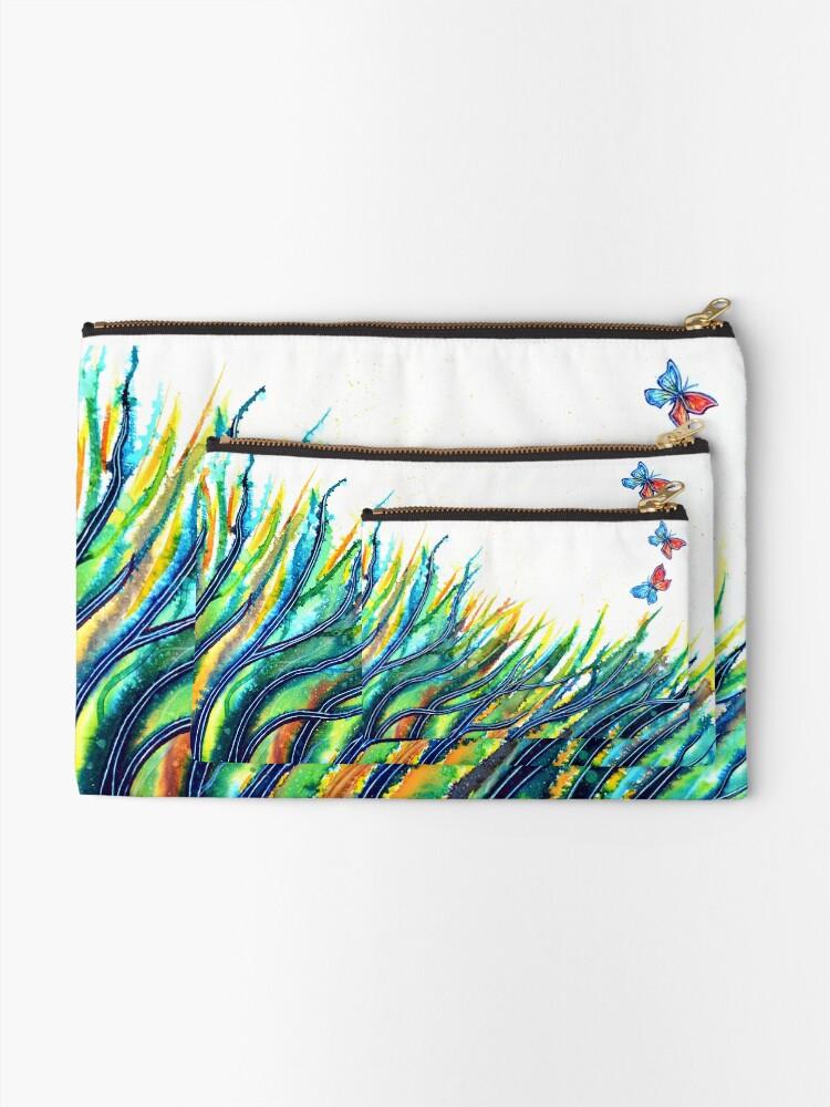 Alternate view of Rainbow Grass Zipper Pouch