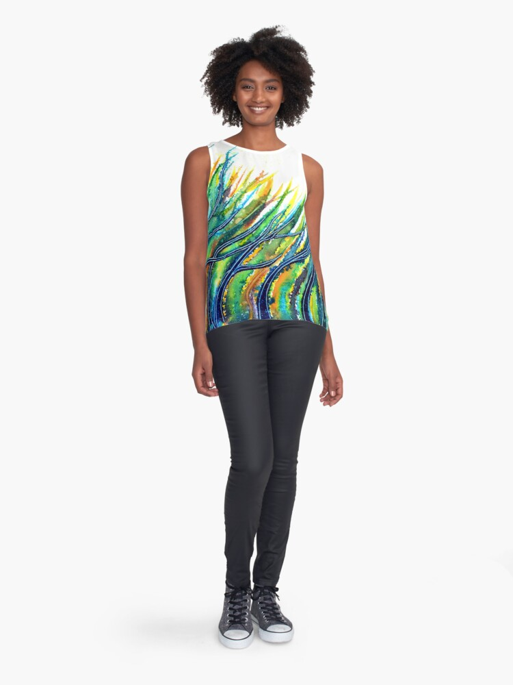 Alternate view of Rainbow Grass Sleeveless Top