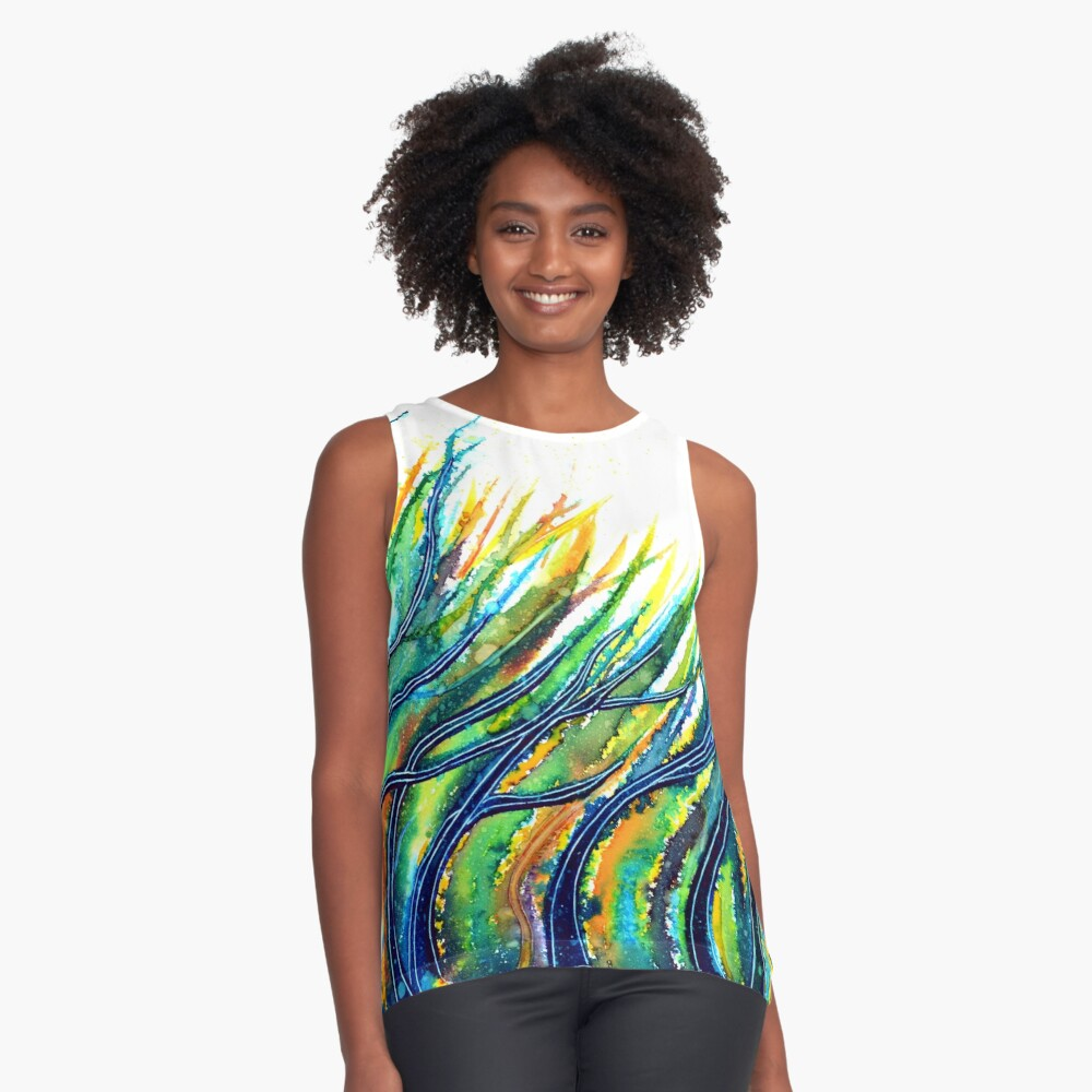 Rainbow Grass Sleeveless Top