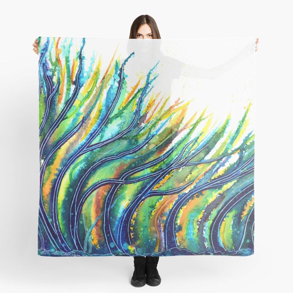 Rainbow Grass Scarf