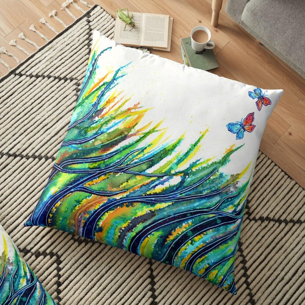 Rainbow Grass Floor Pillow