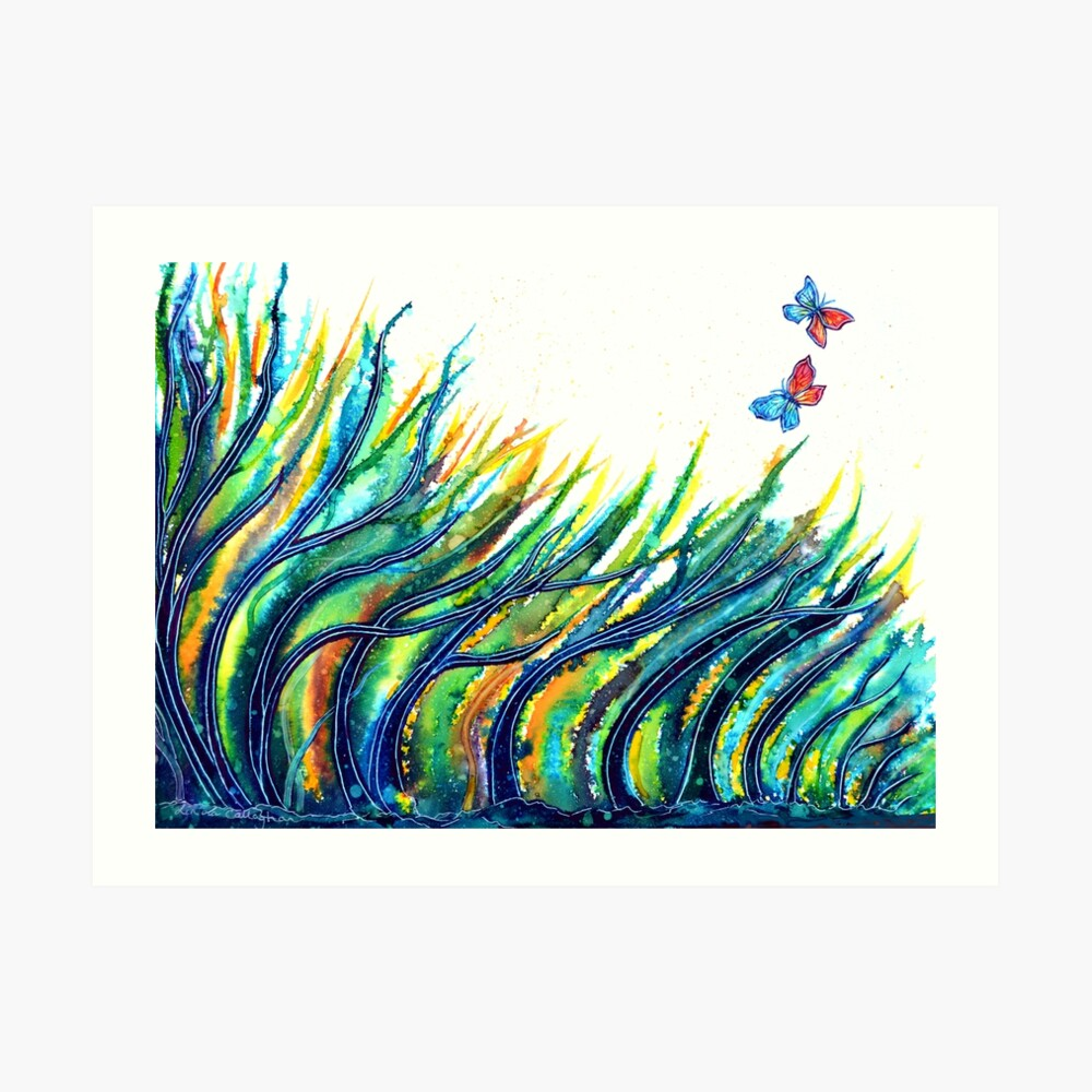 Rainbow Grass Art Print