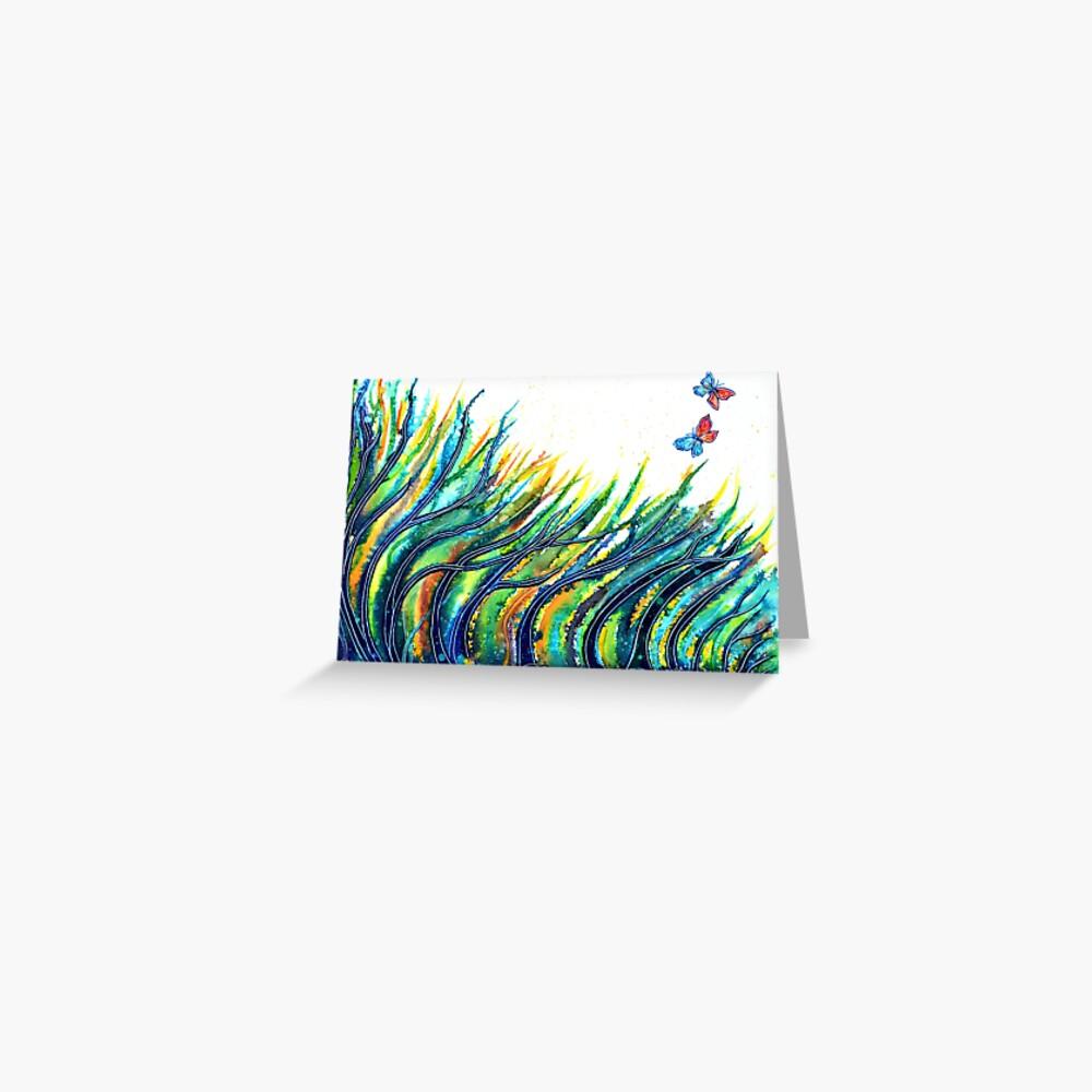 Rainbow Grass Greeting Card