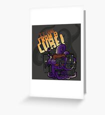 It Came From A Cube!!! Greeting Card