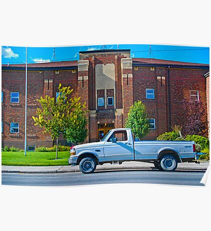 Broadwater County Montana Court House Poster