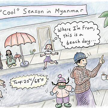 Cool Season: Yangon, Myanmar by kpalana