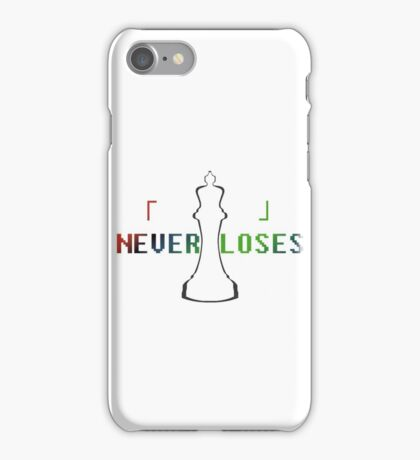 Blank Never Loses iPhone Case/Skin