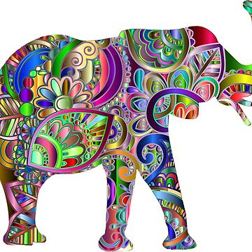 Colorful elephant elephants by Scirocko