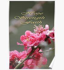 Hope, Faith, Strength; Wat Garden La Mirada, CA USA Poster