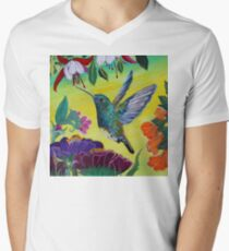 Follow Me Hummingbird Men's V-Neck T-Shirt