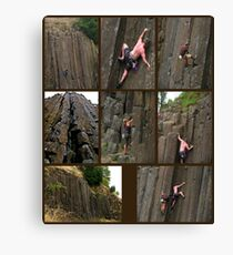 Climbing the Columns on Skinner Butte Canvas Print