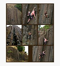 Climbing the Columns on Skinner Butte Photographic Print
