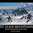 St Elias mountains poster by Istvan Hernadi