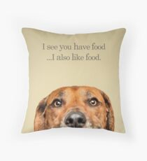 Funny and Hungry Rhodesian Ridgeback Throw Pillow